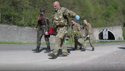 soccorso esercitazione croce blu militari